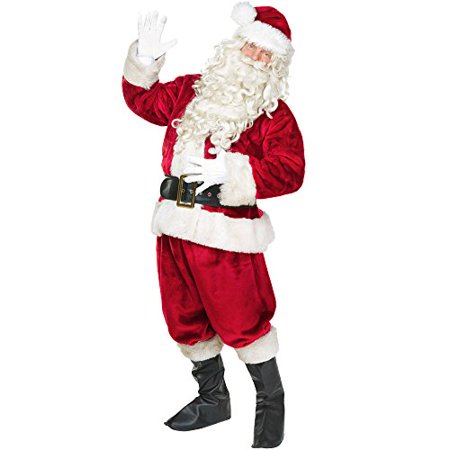 Nick Halloween Bumpers (Boo! Inc. Jolly Old St. Nick Premium Adult Men's Santa Claus Suit, Deluxe)
