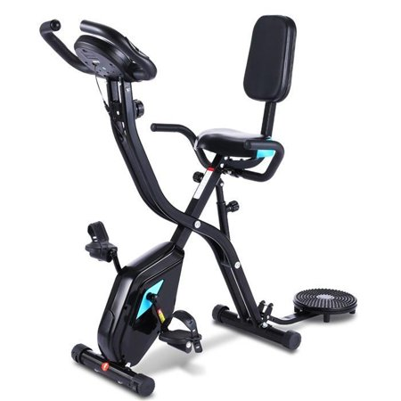 Health & Fitness Foldable Recumbent Upright Exercise Bike