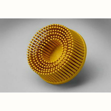 3m 2' Radial Bristle Discs - Scotch-Brite Roloc Bristle Disc, 2 in x 5/8 Tapered 80