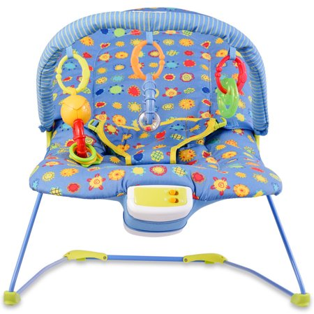 Costway Adjustable Baby Bouncer Swing Rocker Reclining Chair