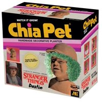 Chia Pet Dustin from Stranger Things Decorative Pottery Planter, Easy to Do and Fun to Grow, Novelty Gift As Seen on TV