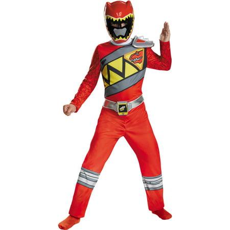 Red Ranger Dino Classic Child Halloween Costume - Halloween Finger Plays For Kids