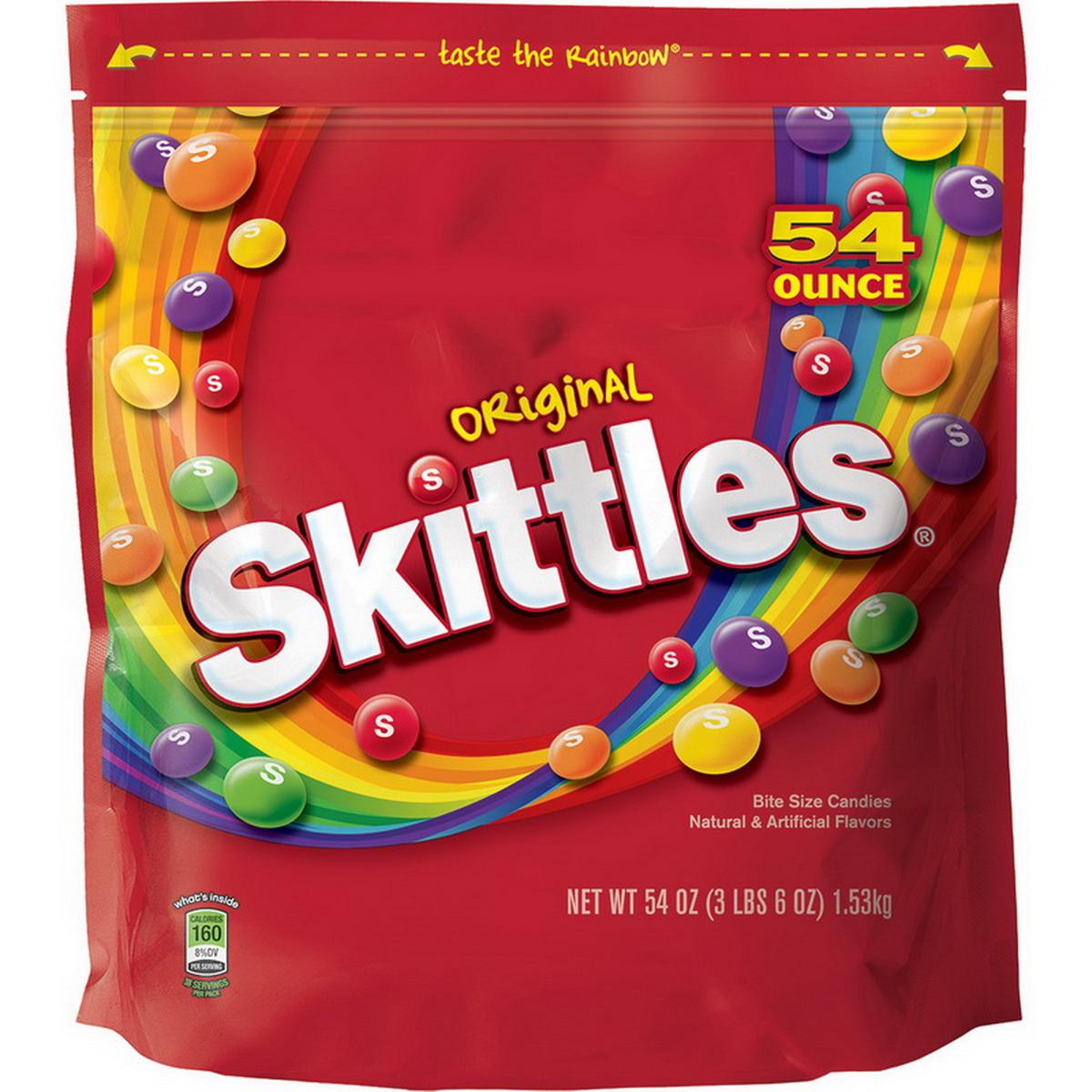 (Price/case)Skittles 24552 Skittles Original Standup Bag 54oz 12/Cs
