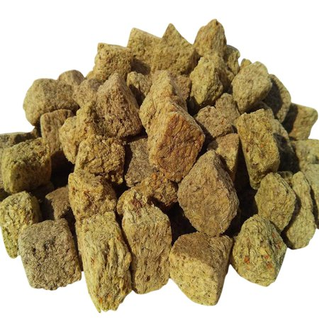 Shrimp Food - Aquatic Foods Freeze Dried Brine Shrimp Cubes, All Tropical Fish, Marines, ALL Turtles and more - 1/8-lb