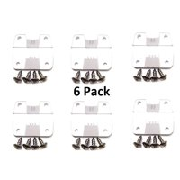 6pack Coleman Replacement Cooler (SIX) Hinge + Stainless Screws (Six HINGE ONLY)  # 5256-1851 Aftermarket