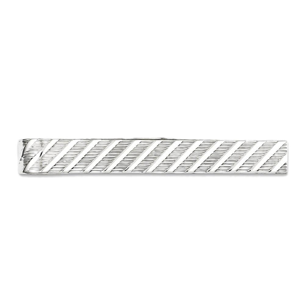 Men's 925 Sterling Silver Brushed Tie Bar