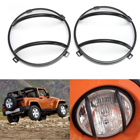 6Pcs Stainless Steel Black Headlight Guards + Turn jeepaccessorie Signal/Tail Light Covers For JK - image 9 of 9