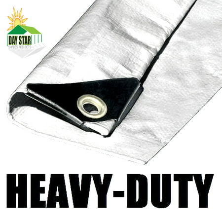 20'X30' White Tarp EXTRA Heavy Duty 12 mil 3 Ply Coated Reinforced Canopy 6 oz 3 Layer