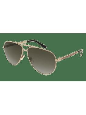 GG0137S-001 Gold 61mm Gucci GG0137S Sensual Romantic Aviator Man Sunglasses