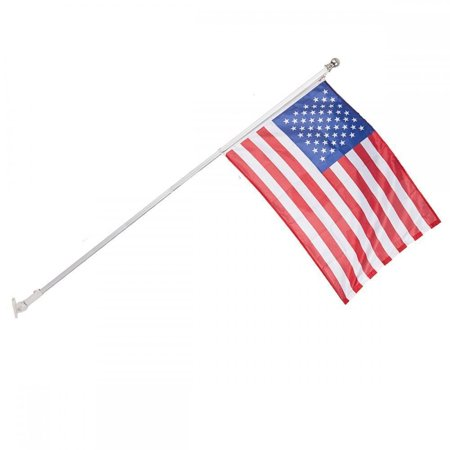 Tangle Free Spinning Flagpole 6' Residential or Commercial Aluminum w/ flag