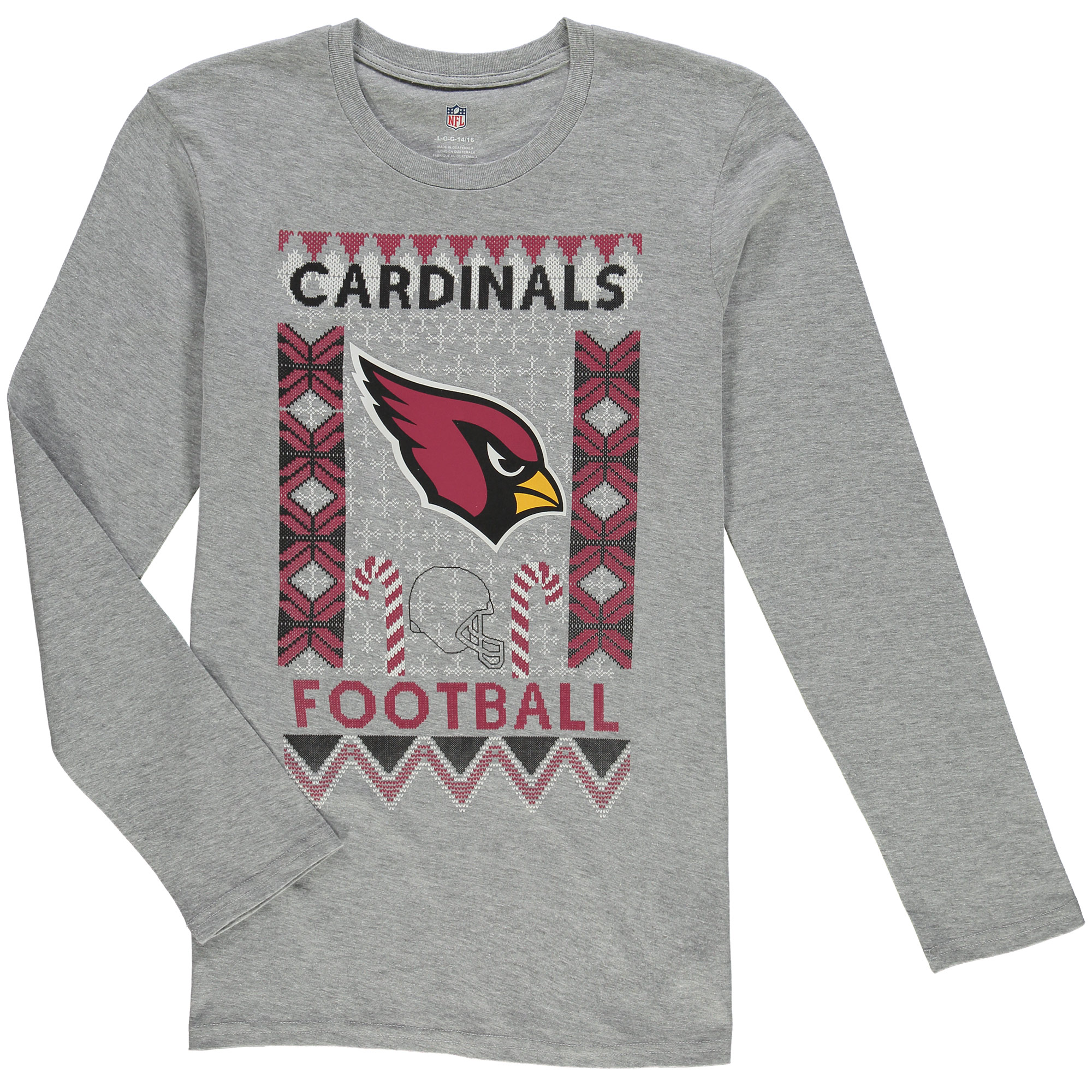 Arizona Cardinals Youth Blizzard Long Sleeve T-Shirt - Heathered Gray