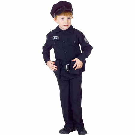 Police Man Set Child Halloween Costume - Bassnectar Halloween 2017 Full Set