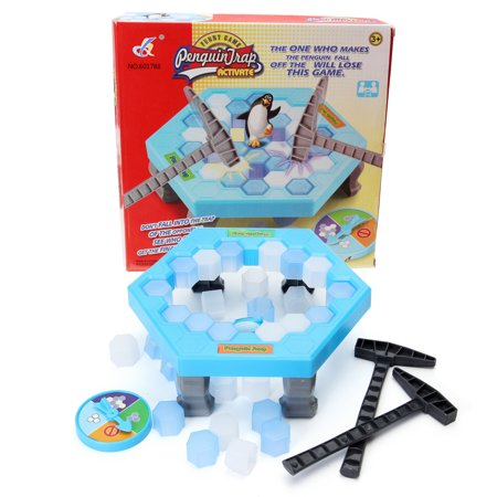 Penguin Ice Breaking Puzzle Table Games Balance Ice Cubes Knock Ice Block Wall Toy Desktop Paternity Interactive Family Fun Game - Family Fun Magazine Halloween Games