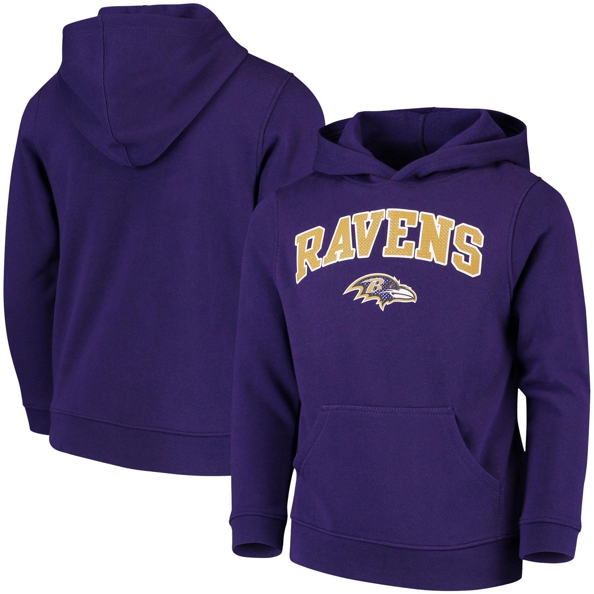 Youth Purple Baltimore Ravens Clear Gel Fleece Hoodie
