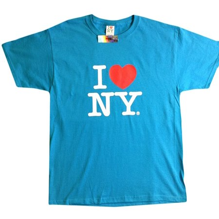 Big Kids Turquoise Apparel (I Love NY New York Kids Short Sleeve Screen Print Heart T-Shirt Turquoise XL ...)