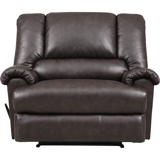 stanford faux leather chair and a half r. Black Bedroom Furniture Sets. Home Design Ideas