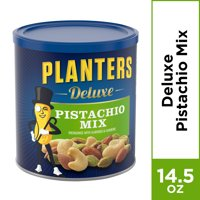 Planters Deluxe Pistachio Mix, 14.5 oz Canister