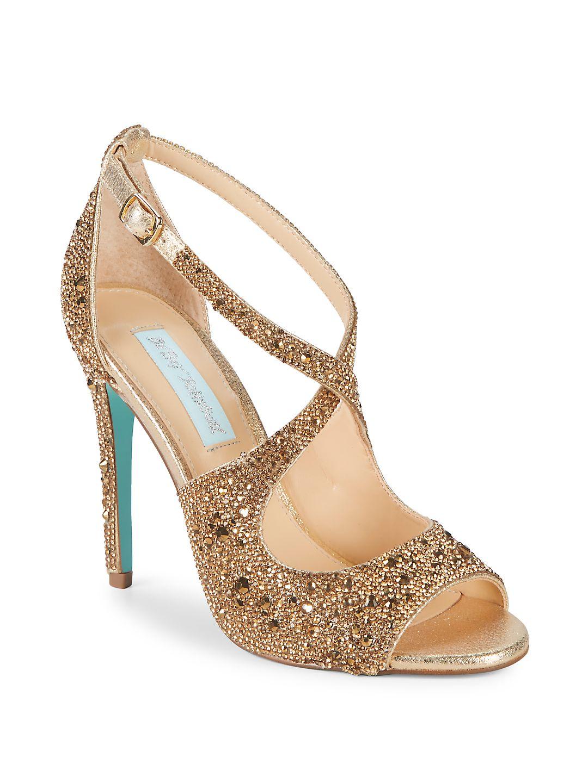 Sage Embellished Satin Ankle-Strap Sandals