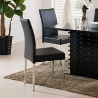 K & B Furniture Newton Black Dining Chair - Set of 4