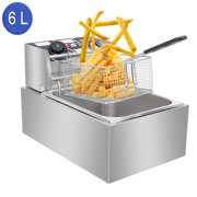ZOKOP 6.3QT Electric Deep Fryer Countertop Deep Fryer Restaurant Stailless Steel