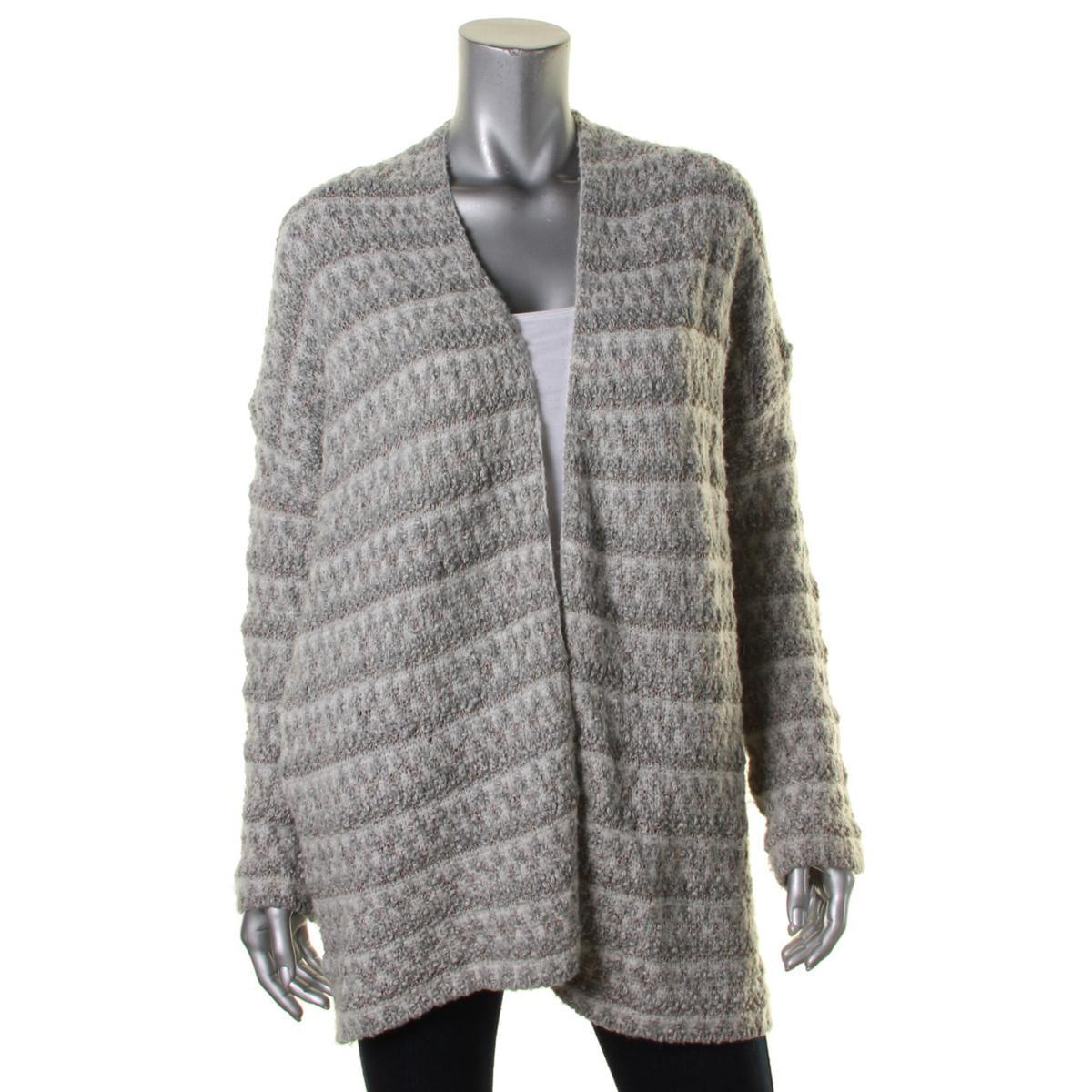 Joie Womens Lerado Metallic Open Front Cardigan Sweater