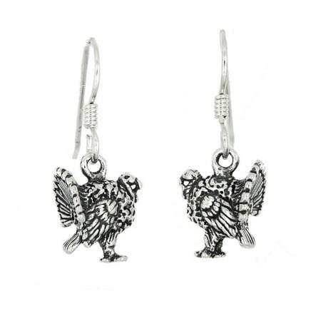Sterling Silver Wild Turkey Earrings