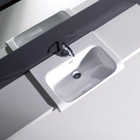 WS Bath Collections Inka 341 Semi Recessed Bathroom Sink