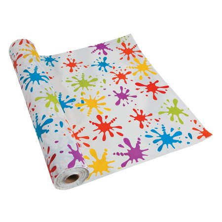 Paint Splatter Party Supplies (Paint Splatter Plastic Tablecloth)