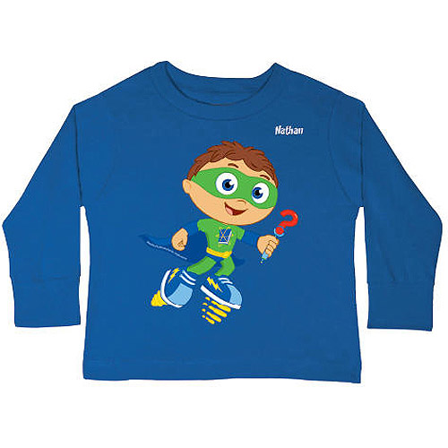 Personalized Super Why! Why Writer Toddler Boy Long Sleeve Shirt