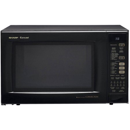 Sharp R930ak Carousel Countertop Convection Microwave Oven 1 5 Cu Ft 900w Black