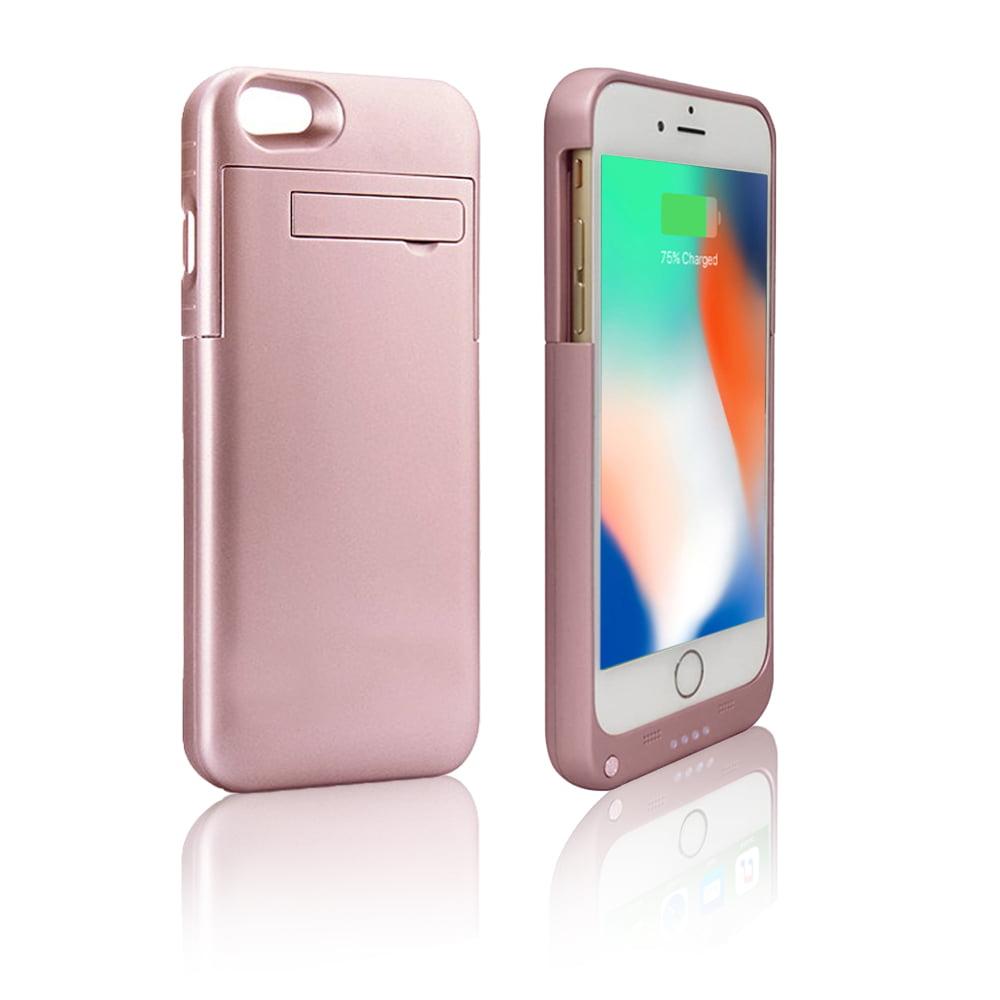 Indigi® Ultra Slim Rechargeable Smart Battery Case for iPhone 8 Plus - Rose Gold - 4000mAh High Capacity - image 1 de 2
