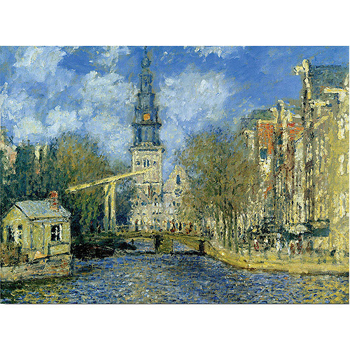 "Trademark Fine Art ""The Zuiderkerk at Amsterdam"" by Claude Monet"