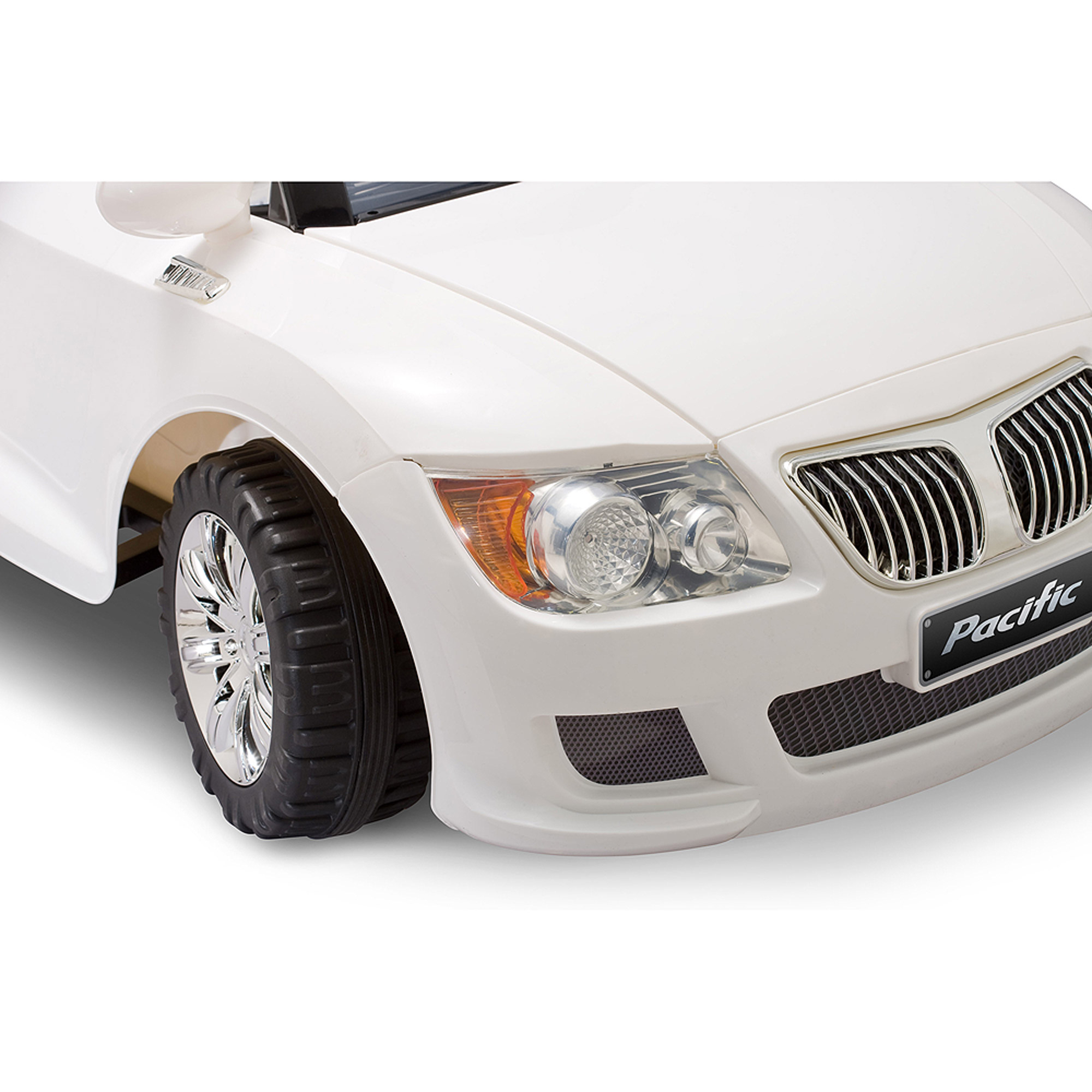 pacific cycle 12 volt battery powered convertible sports car white walmartcom