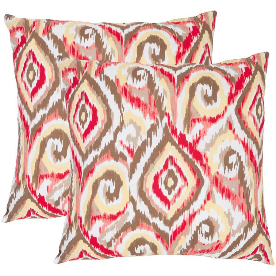 Safavieh Bardot Brown Pillow, Set of 2