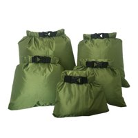 5pcs Outdoor Waterproof Dry Bag Outdoor Beach Buckled Storage Sack Travel Drifting Swimming Snorkeling Bags Accessories