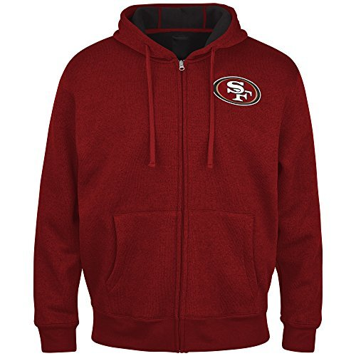 NFL San Francisco 49ers Primary Receiver Fleece Jacket Hoody (X-Large) by G-III
