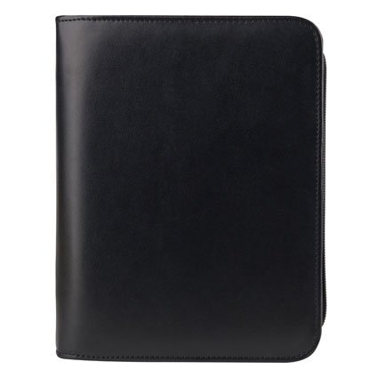 Compact Simulated Leather Zipper Binder - - Simulated Leather Binder Organizer