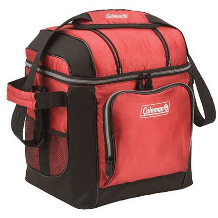 Coleman 30 Can Soft Sided Cooler Bag with Liner, Red
