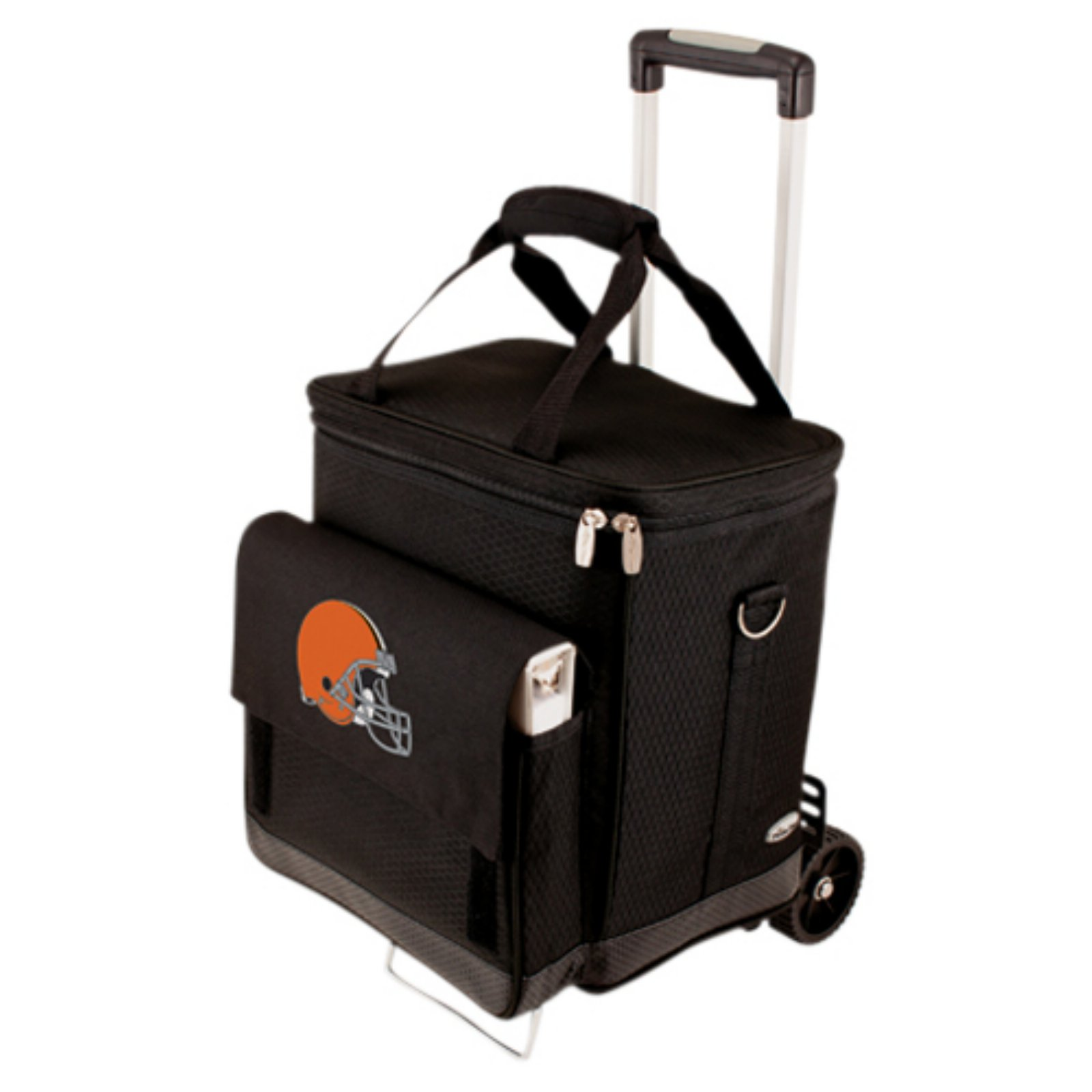 Picnic Time Cellar with Trolley, Black Cleveland Browns Digital Print