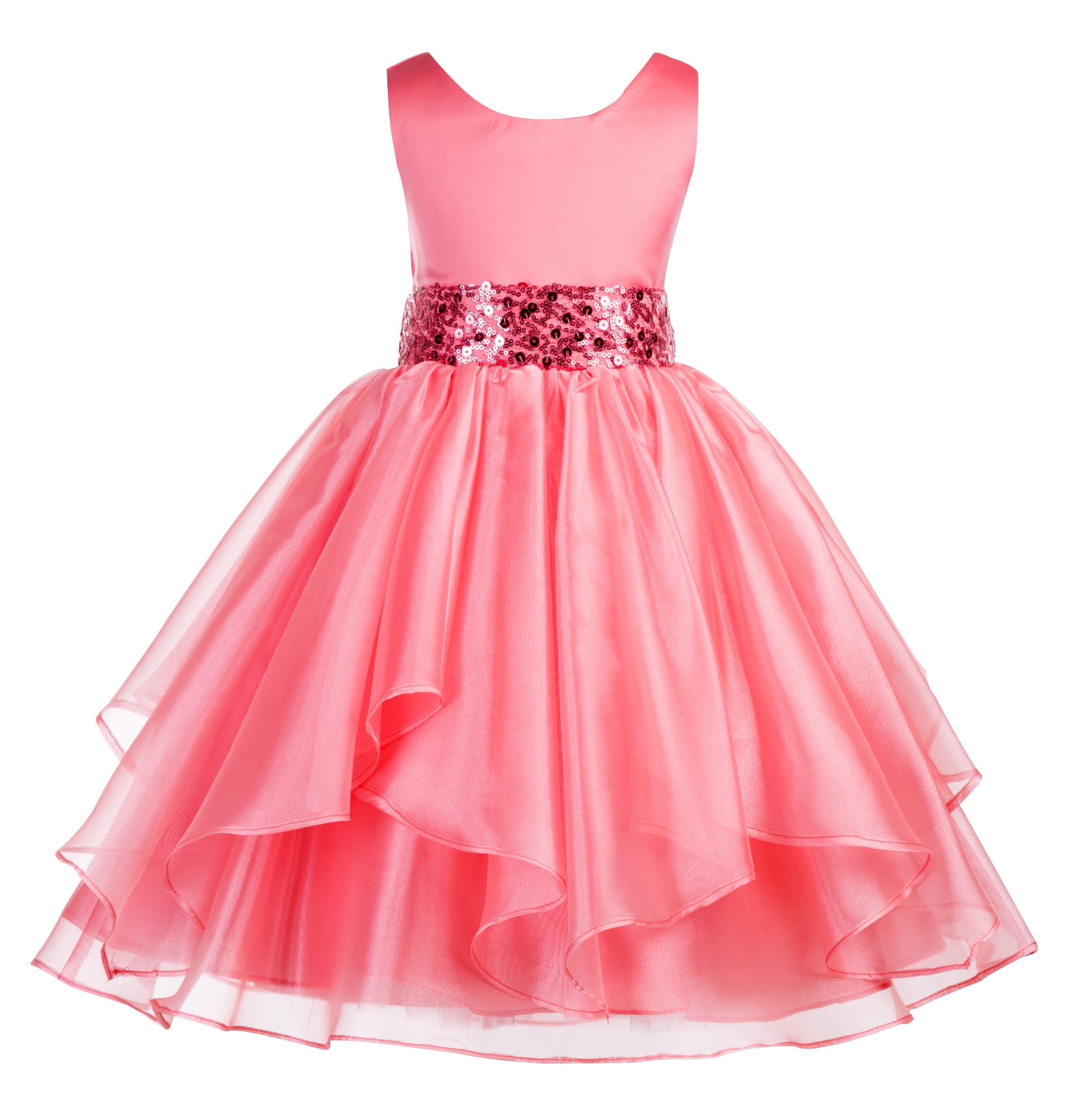 Ekidsbridal Asymmetric Ruffles Organza Layers Flower Girl Dress