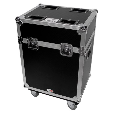 Flight Case w/ Wheels For (2) Chauvet Q-Spot 260 LED Moving Head (2 Moving Head)