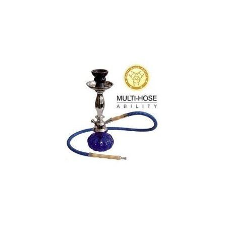 "VAPOR HOOKAHS TALL PUMPKIN 12"" MODERN COMPLETE HOOKAH SET: Single Hose shisha pipe with 2 Hose Multi Hose ability and auto seal system. Tall Pumpkin narguile pipes have glass vases. (White Hookah)"