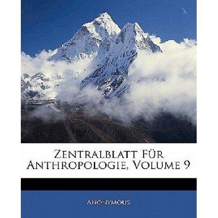 Zentralblatt Fur Anthropologie  Volume 9  German Edition