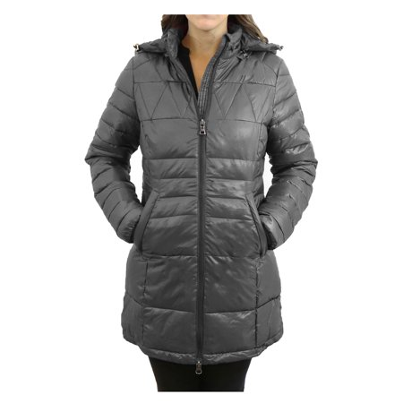 Women's Silhouette Style Puffer Jacket With Detachable Hood - image 4 of 6