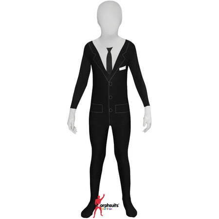 Original Morphsuits Black Slenderman Kids Suit Character - Halloween Characters That Wear Suits
