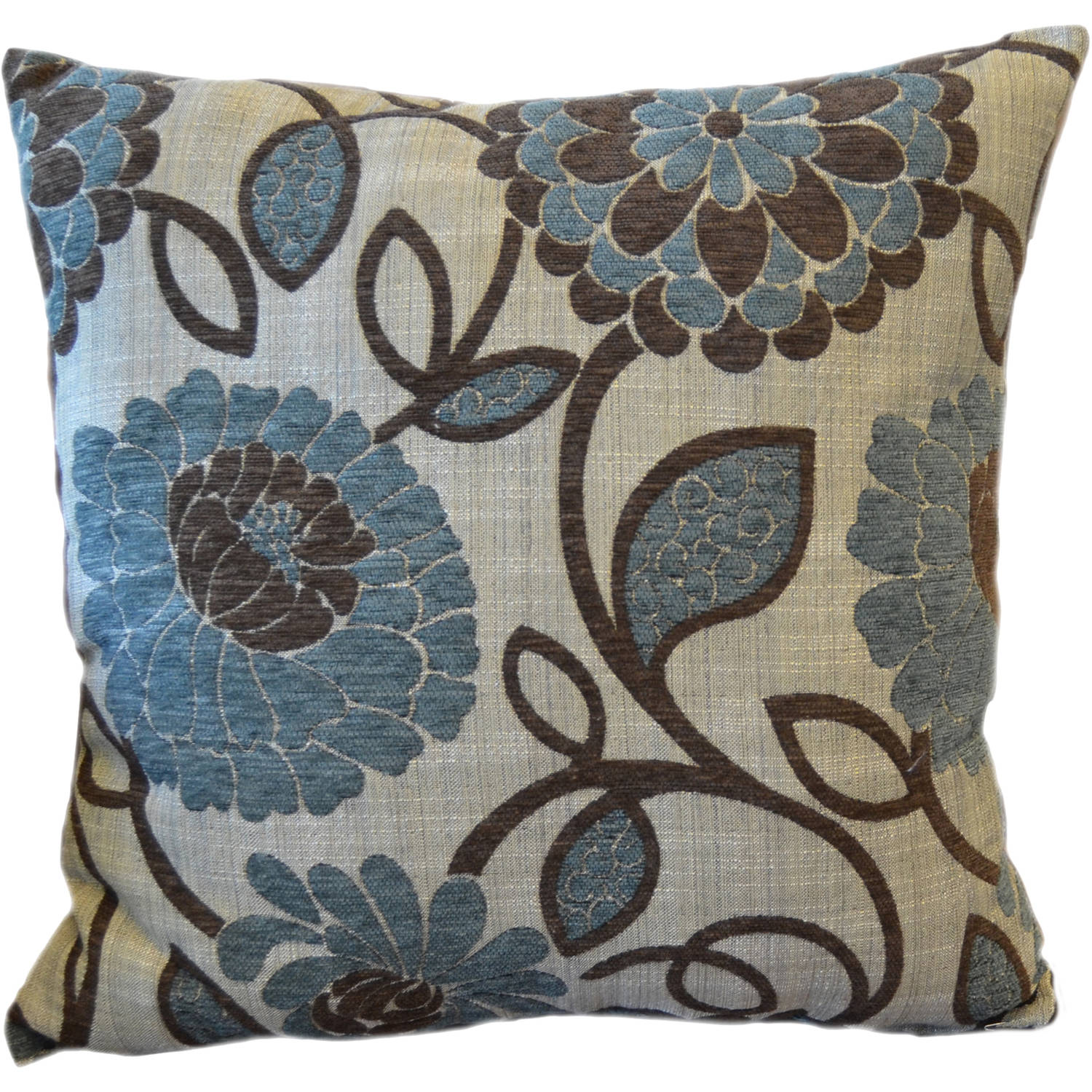 better homes and gardens blue floral decorative pillow  walmartcom -