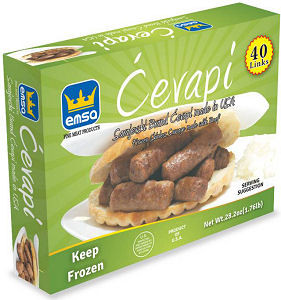 Minced Meat Sticks - Sarajevski Cevapi, 1.76 lb Box