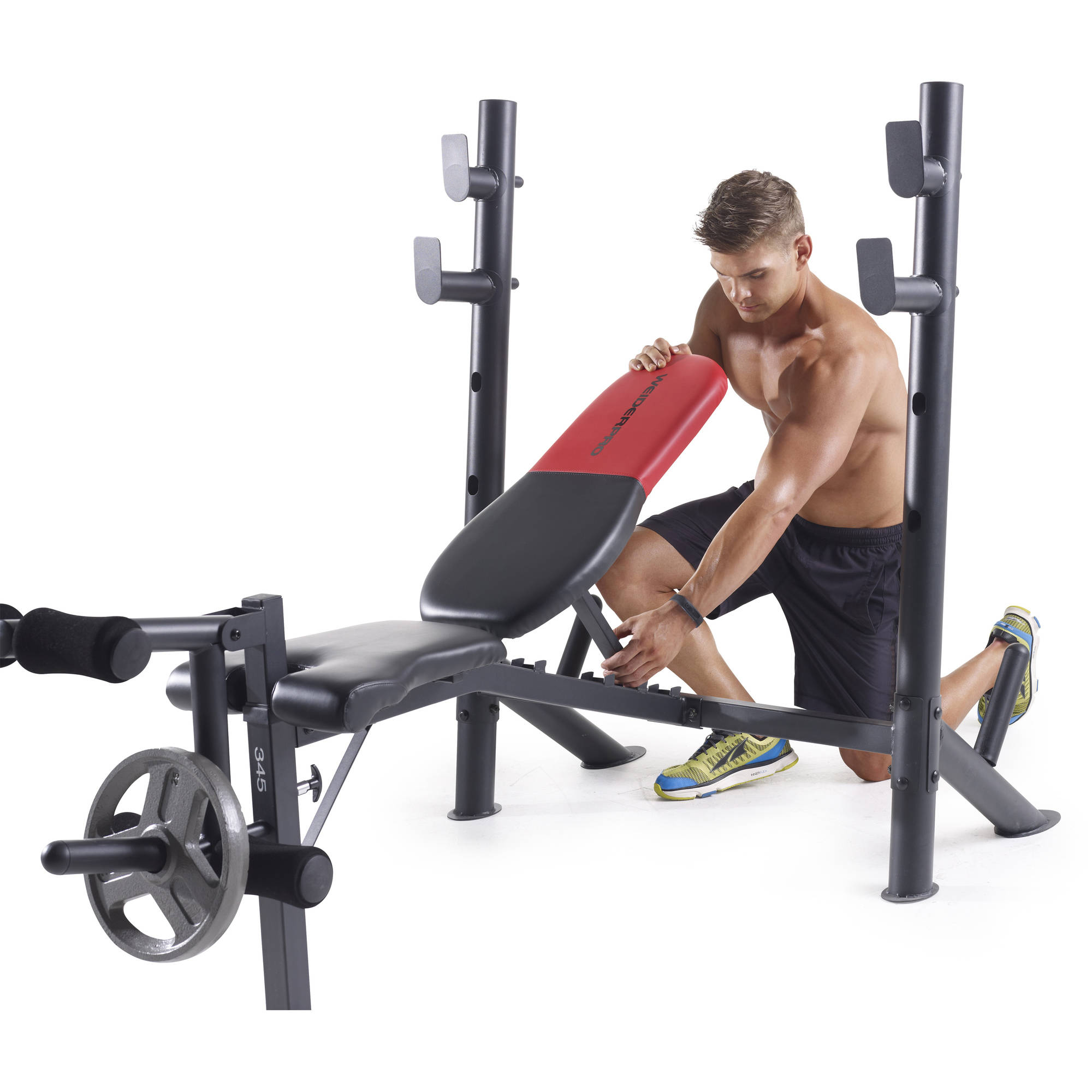 Mid Width Bench Training Workout Chair Home Gym Weight