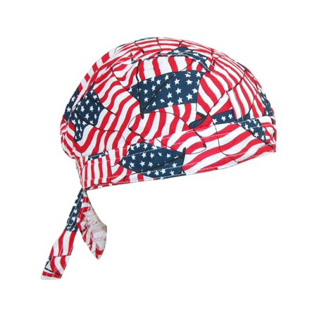 Size one size Men's Cotton American Flag Do Rag