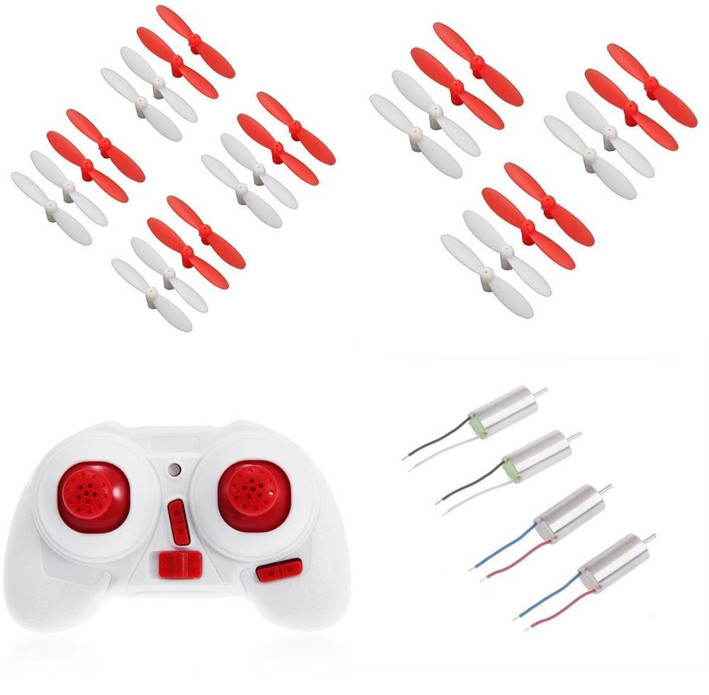 HobbyFlip Remote Control CW/CCW 6mm Motors(2 each) Propellers(28pcs) for Cheer X1